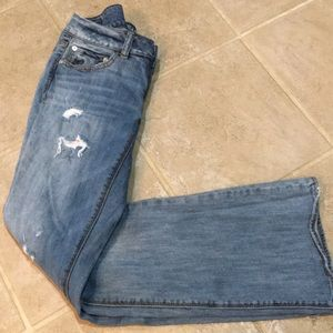 American Eagle distressed , bootcut jeans